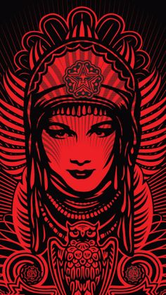 Shepard Fairey iPhone Wallpaper