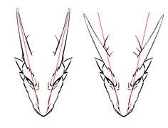 角 ドラゴン 描き方 イラスト  Drawing Dragon Illustration Tutorial