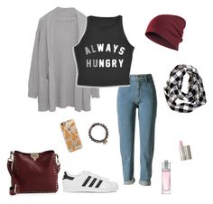 """""""Always hungry"""" by micha-p ❤ liked on Polyvore featuring Margaret O'Leary, adidas Originals, Valentino, Sydney Evan, Casetify, Christian Dior and Ilia"""