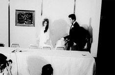 "ladypresley: ""Elvis and Priscilla Presley at the Aladdin Hotel in Las, NV, May "" Elvis And Priscilla, Priscilla Presley, Elvis Presley, Chuck Berry, Las Vegas Hotels, Graceland, John Lennon, Aladdin, Nevada"