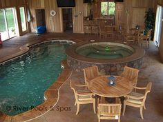 Indoor Pool - little small but love the contrasting stone