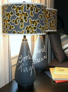 Create a convenient spot to leave messages for your little one by covering an outdated lamp base with chalkboard paint. Get Step-By-Step Instructions Kids' Chalkboard Lamps