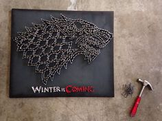 I really love this.  Hey, I found this really awesome Etsy listing at https://www.etsy.com/listing/201953677/game-of-thrones-house-stark-sigil-winter