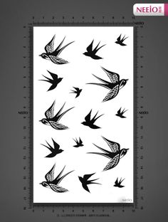 Neeio tattoo stickers waterproof swallow bird tattoo sticker Lovely girl body paint sexy tattoo sticker LT102-inBody Paint from Beauty & Hea...