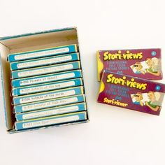 Lot-of-11-Stori-Views-3-D-Full-Color-Slide-Packets-with-66-Slides-Stori-viewer