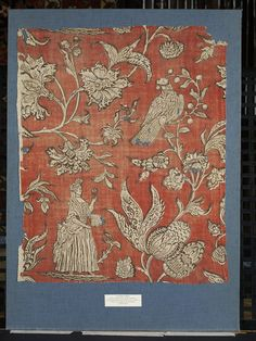 Printed cotton | V&A Search the Collections Place of origin: Alsace, France (probably, made)  Date: 1690-1710 (made)