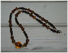 MIx-Perlenkette in braun  von Carpe diem create auf DaWanda.com