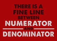 numerator/denominator