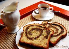 Cozonac – румънски козунак с орехи, стафиди и какао