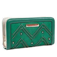 Nicole Lee Calley Textured Zigzag Wallet