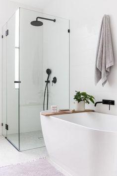 Nothing beats a clean, simple bathroom design. Nothing beats a clean, simple bathroom design. Bathroom Renos, Laundry In Bathroom, Bathroom Inspo, Bathroom Renovations, Bathroom Inspiration, Home Remodeling, Bathroom Ideas, Bathroom Bin, Small Bathroom Bathtub
