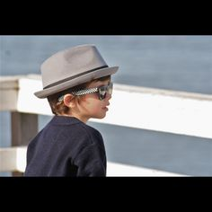 Gray Fedora with Black Band - Born To Love Clothing - Baby / kids clothes - The  kid is so cute !!! - Baby Hats, Children Hats Newborn Hats, funky Hats , Boy hats, Cool baby clothes