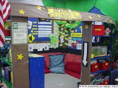 "It'd be great to have the room to do something like this!! Reader's ""Clubhouse"" ... sounds like it would make reading sound like something the kids would WANT to be a part of"