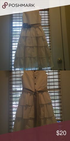 White weeding/dressy dress. Handmade Bridesmaids dress  Only worn once in a wedding. 31 inches long,12 inches across Chest,& 11 inches in the waste. Dresses Formal