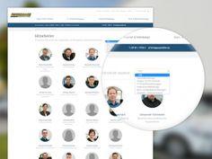 Webseite, Mitarbeiter