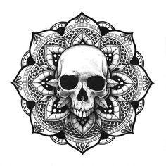 Mandala Crâne Skull Mandala