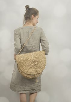 Natural Linen Tunic Dress by KnockKnockLinen