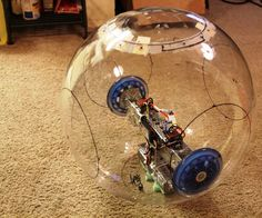 """This is a spherical robot design that I am working on. I intend to use this to create a replica of BB-8 (lots more work to do!). It is about 18"""" in diameter and very intuitive to control. I have spent about $400 for everything in this instructable. The internal structure and drive system is made from primarily Actobotics parts available through Servo City."""