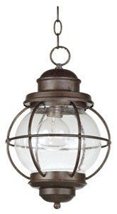 Kenroy Home 90965BL Hatteras Hanging Lantern, Black by Kenroy Home. Save 23 Off!. $151.20. From the Manufacturer                Harking back to sailors' lanterns, Hatteras' clear seeded glass will sparkle and brighten your home. The lanterns work equally well indoors or out.                                    Product Description                Rustic Hunter Kenroy Hatteras Wall Lanterns adds beautiful light, right where you need it. Old time style, ready to add its looks to your favorite...