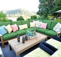 green outdoor sectional vineyard view this looks so comfy - Outdoor Sectionals