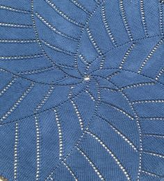 Free Knitting Pattern for Radiating Star Blanket
