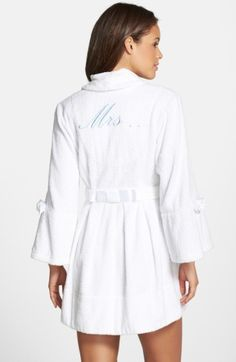 37ab022a238 Women s Betsey Johnson Terry Honeymoon Robe at Nordstrom  affiliatelink Wedding  Gifts