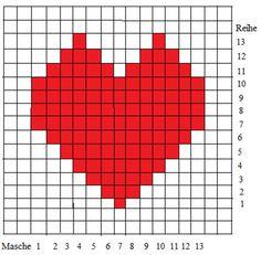 Das Herzmuster für die Trachtenjacke