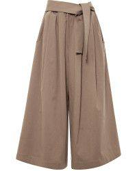 TOME Cropped Cotton-twill Wide-leg Pants - Lyst