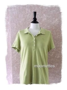Womens Tommy Bahama Golf XL Casual Dress Polo Rugby Shirt Green Extra Large #TommyBahama #ButtonDownShirtGolfPolo #Casual