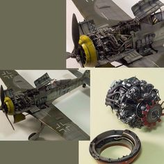 FW190 F8 1/32 by: André Kliebisch From: MonsterKit #aeronave #detalhes #detail #motor #war #guerra #art #arte #miniart #airplane #aircraft #usinadoskits #udk #hobby