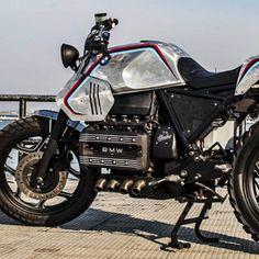 L'atelier de moto custom italien Shaka Garage réinvente une BMW K100 de 1985 pour qu'elle se fonde dans le paysage urbain contemporain.