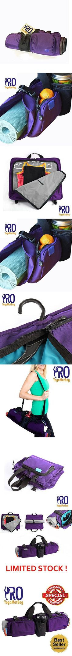 PRO Yoga Mat Bag - Purple Super Quality Unique Yoga Mat Bag Product - Large Pockets - Holds Smartphone, Water Bottle, Fruits, Wallet - Super Durable - Stain And Water Resistant