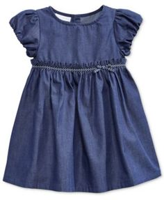 First Impressions Baby Girls' Denim Dress, Only at Macy's | macys.com