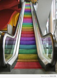 escaleras multicolor