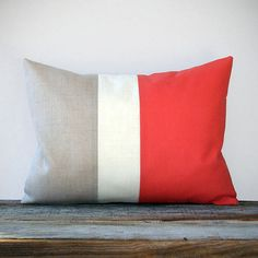 Color block throw pillow