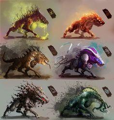Evolution creature @rebescochristophe's piece on Drawcrowd
