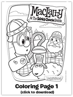 Free Coloring Printable From MacLarry And The Stinky Cheese Battle