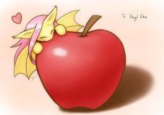 Commission Bat on an apple by HowXu on DeviantArt Mlp, Fluttershy, Raimbow Dash, My Little Pony Pictures, Princess Celestia, New Wallpaper, Twilight Sparkle, Rainbow, Fan Art
