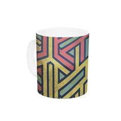 """KESS Original """"Deco"""" Ceramic Coffee Mug"""