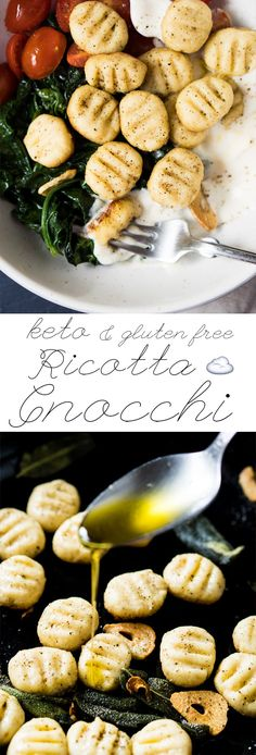 Gluten Free, Grain Free & Keto Ricotta Gnocchi ☁️ Pillowy-soft! #keto #ketodinner #glutenfree #grainfree