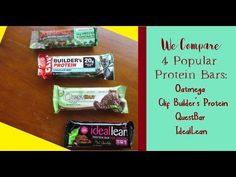 We compared 4 popular protein bars - Oatmega, Clif Builder's, Quest, and IdealLean. Each one had its pros and cons.