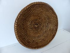 Antique French Rye Coiled Basket Home Decor by LaVannerie on Etsy, $117.00