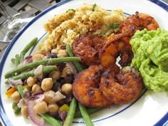 Sweet Peas and Pumpkins: Southwest Grilled Shrimp with an Avocado Mash