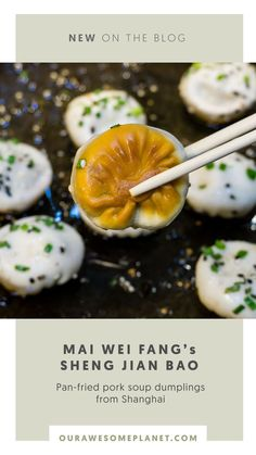 MAI WEI FANGmeaning wheat mill room is a fast-casual Chinese restaurant serving Northern Chinese style dishes that mainly focus on wheat flour ingredients.Famed for introducing the firstSheng Jian Bao(pan-fried pork soup dumpling) in the Philippines, this Shanghainese version is similar to Xiao Long Bao but is much meatier with a thicker dough compared to its counterpart. #philippines #travel #foodtravel #foodie #wanderlust Philippines Tourism, Philippines Travel Guide, Philippines Food, Pork Soup, Travel Guides, Travel Tips, Fried Pork, Asian Desserts, Chinese Restaurant
