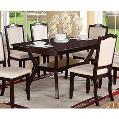 Modern Rectangular Wood 7 PC Dining Table and Chairs Set Poundex http://www.amazon.com/dp/B00L4HW3XU/ref=cm_sw_r_pi_dp_3iidxb0K60B94