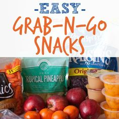 Find some easy grab-and-go snacks that are perfect for a busy schedule!