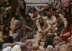 Jesus teaches in the temple.