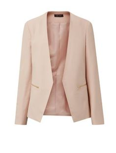 Vanessa Hudgens recently wore a coat in this feminine shade - steal her style in this Shell Pink Crepe Blazer. http://daily.newlook.com/womens-look-of-the-day/may/2015/vanessa-hudgens