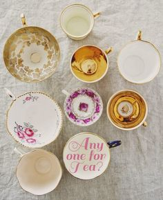 "** Personally selected products **: Afternoon hight Tea I want the cup - ""Any one for Tea?'!"