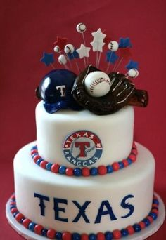 Texas Rangers cake  Cake by SweetLifeofcakes